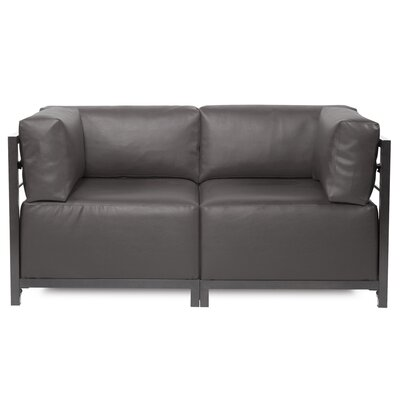 Woodsen Symmetrical Sectional Upholstery: Pewter, Frame Finish: Titanium
