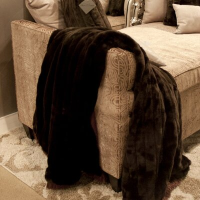 Alexandrea Faux Fur Throw Color: Mink Brown
