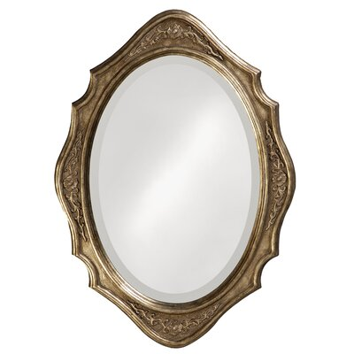 Oval Silver Leaf Wall Mirror