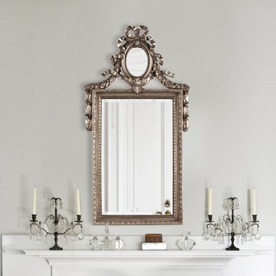 Rectangle Antique Silver Resin Vertical Mirror