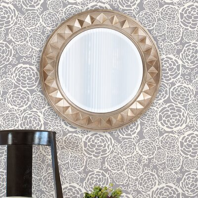 Round Silver Resin Wall Mirror Finish: Silver LATT6657 38485541
