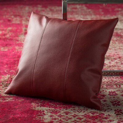 Amald Faux leather Throw Pillow Size: 20 H x 20 W, Color: Apple - Red