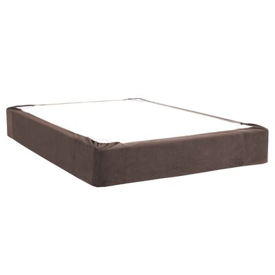 Mattingly Bed Skirt Size: Twin, Color: Chocolate