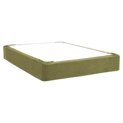 Mattingly Bed Skirt Size: Twin, Color: Moss
