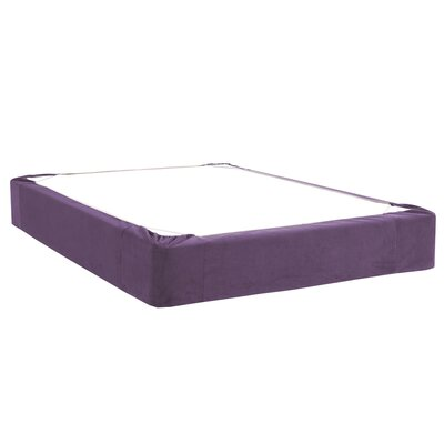 Mattingly Bed Skirt Color: Eggplant, Size: Queen