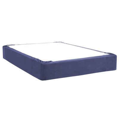 Mattingly Bed Skirt Size: Twin, Color: Royal
