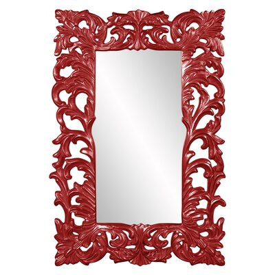 Rectangle Glossy Accent Mirror Finish: Red