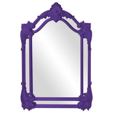 Arched Black Accent Mirror Finish: Royal Purple