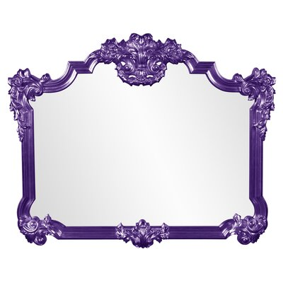 Ornate Glam Arched Accent Mirror Finish: Royal Purple