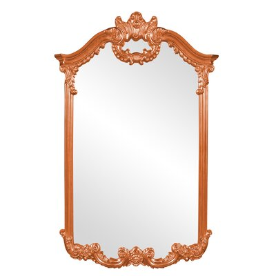 Ornate Glam Accent Mirror Finish: Orange