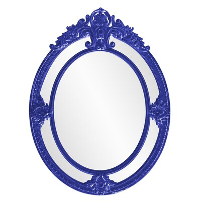 Ornate Oval Accent Mirror Finish: Royal Blue