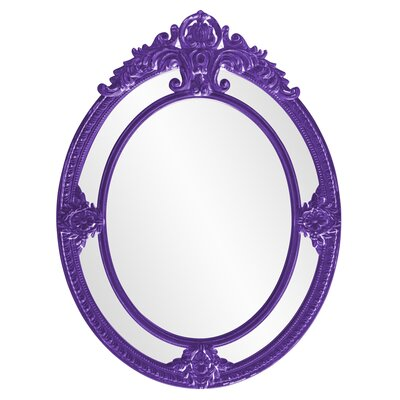 Ornate Oval Accent Mirror Finish: Royal Purple