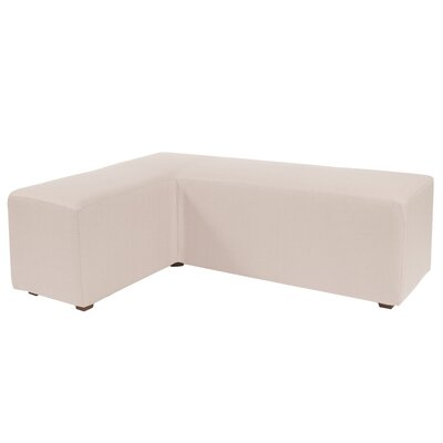 Alyssia L Ottoman Upholstery: Sand
