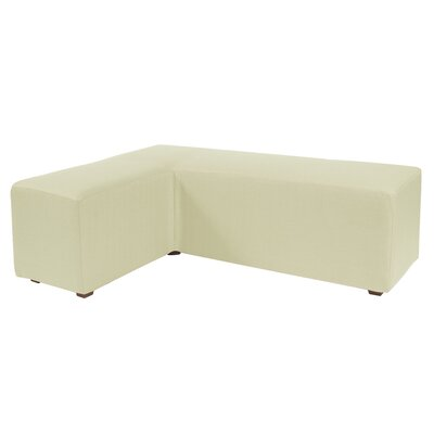 Alyssia L Polyester Ottoman Slipcover Upholstery: Willow