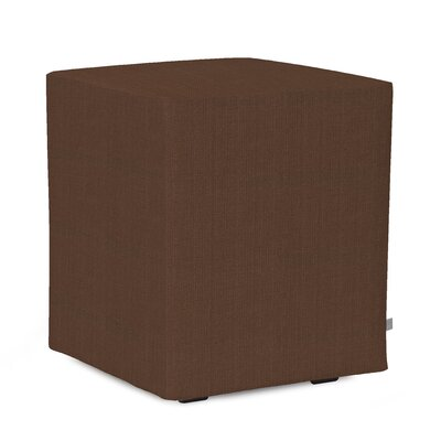 Alyssia Polyester Ottoman Slipcover Upholstery: Chocolate