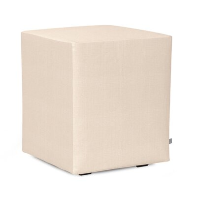 Alyssia Polyester Ottoman Slipcover Upholstery: Sand