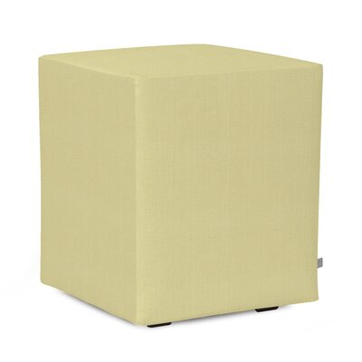 Alyssia Polyester Ottoman Slipcover Upholstery: Willow