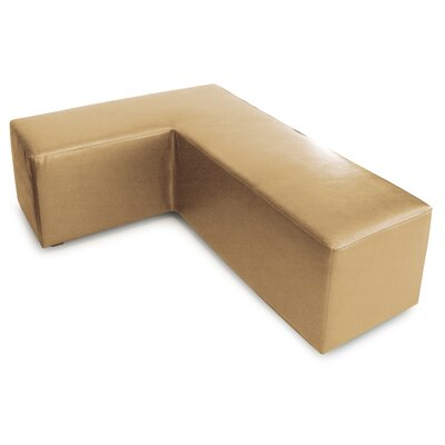 L Shape Faux Leather Ottoman Slipcover