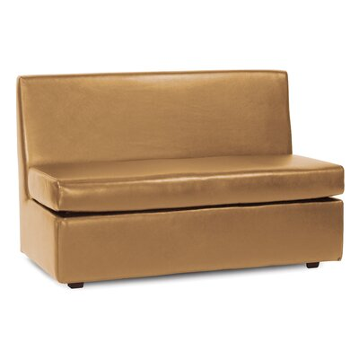 Box Cushion Loveseat Slipcover Upholstery: Bronze