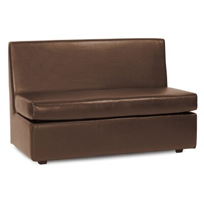 Box Cushion Loveseat Slipcover Upholstery: Pecan