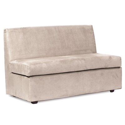 Mattingly Polyester Loveseat Slipcover Upholstery: Sand