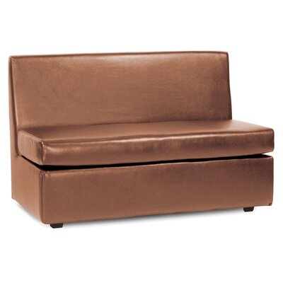 Serrano Box Cushion Futon Slipcover Upholstery: Bronze