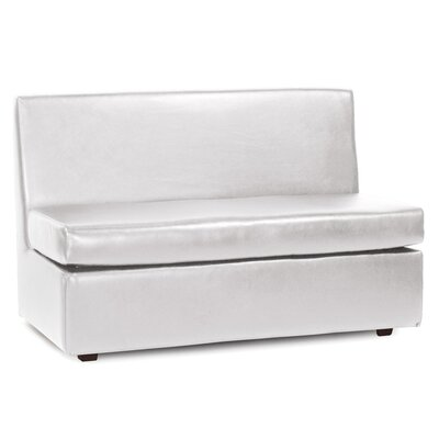 Serrano Box Cushion Futon Slipcover Upholstery: Mercury