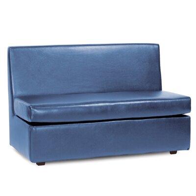Serrano Box Cushion Futon Slipcover Upholstery: Sapphire