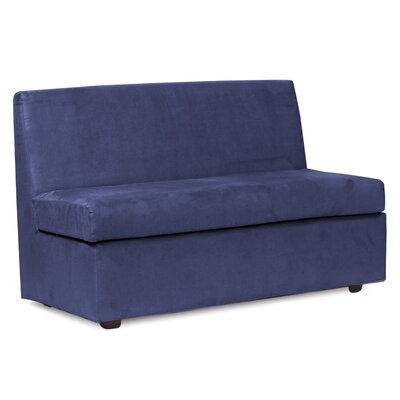 Mattingly Box Cushion Loveseat Slipcover Upholstery: Royal