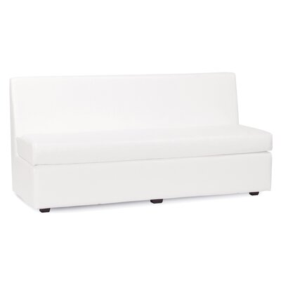 Box Cushion Sofa Slipcover Upholstery: White