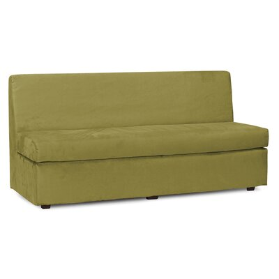 Mattingly Box Cushion Sofa Slipcover Upholstery: Moss
