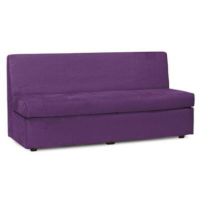 Mattingly Polyester Sofa Slipcover Upholstery: Eggplant