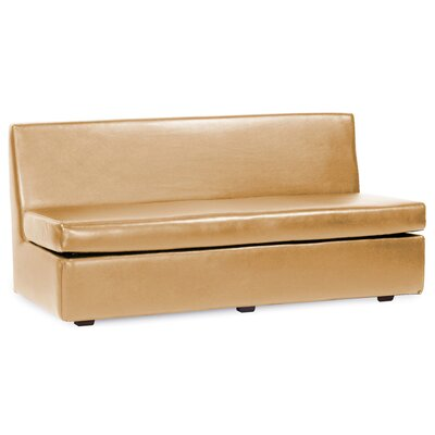 Serrano T-Cushion Sofa Slipcover Upholstery: Gold
