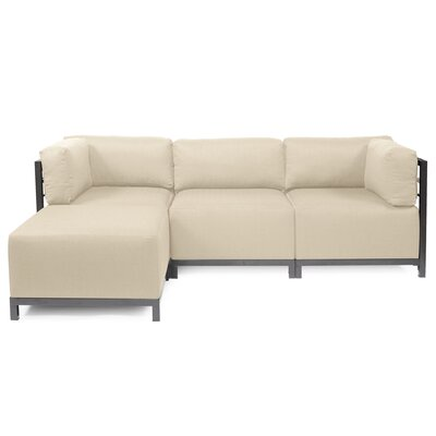 Alyssia Sectional Upholstery: Sand, Finish: Titanium