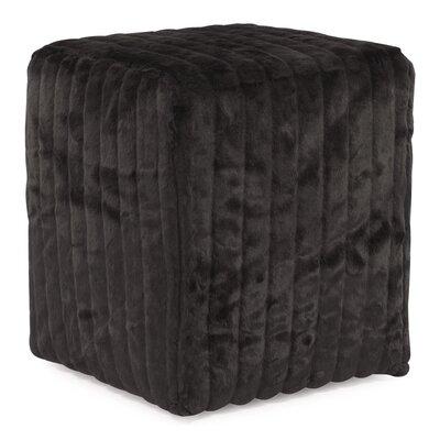 Bancroft Woods Cube Ottoman Upholstery: Black