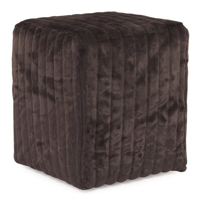 Bancroft Woods Cube Ottoman Upholstery: Brown