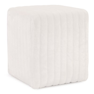 Bancroft Woods Cube Ottoman Upholstery: Snow