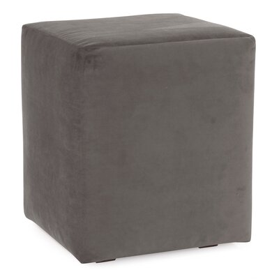Mattingly Polyester Ottoman Slipcover Upholstery: Pewter