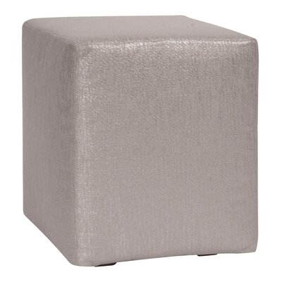 Alas Polyester Ottoman Slipcover Upholstery: Pewter
