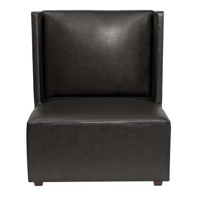 Amato Slipper Chair Upholstery: Black