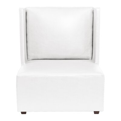 Amato Slipper Chair Upholstery: White