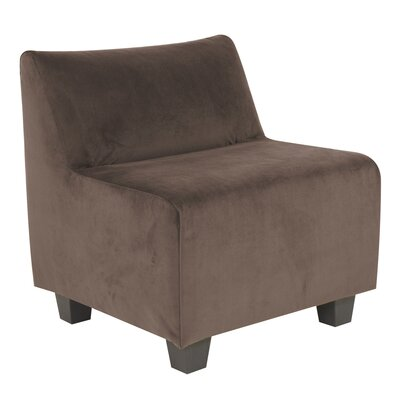 Mattingly Slipper Chair Upholstery: Chocolate