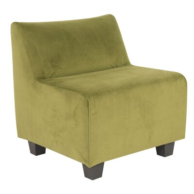 Mattingly Slipper Chair Upholstery: Moss