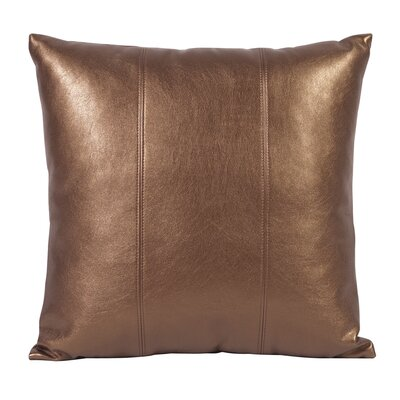 Serrano Throw Pillow Size: 20 H x 20 W x 4 D, Color: Bronze