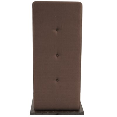 Alyssia L Attachable Table Upholstery: Chocolate