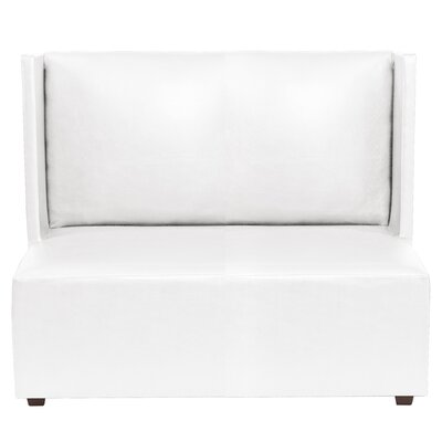 Amato Square Loveseat Upholstery: White