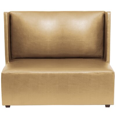 Serrano Square Loveseat Upholstery: Gold