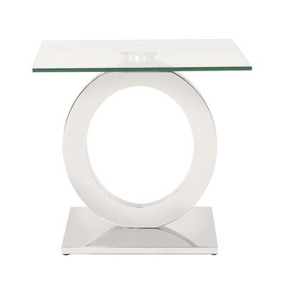 Langer Stainless Steel End Table