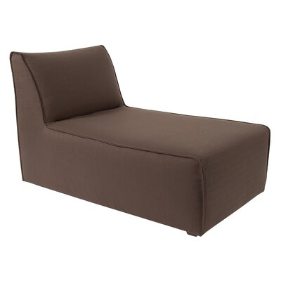 Solid Lounge Slipcover Upholstery: Chocolate
