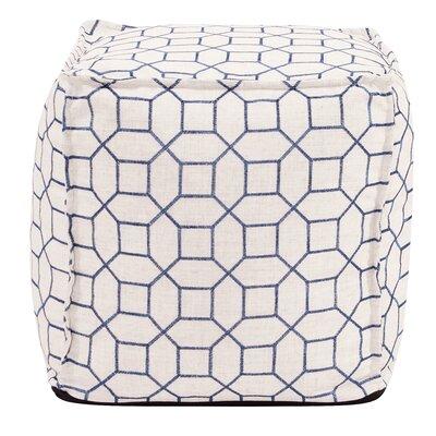 McBride Square Ottoman Upholstery: Indigo